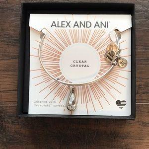 NWT Alex and Ani clear crystal April Bracelet